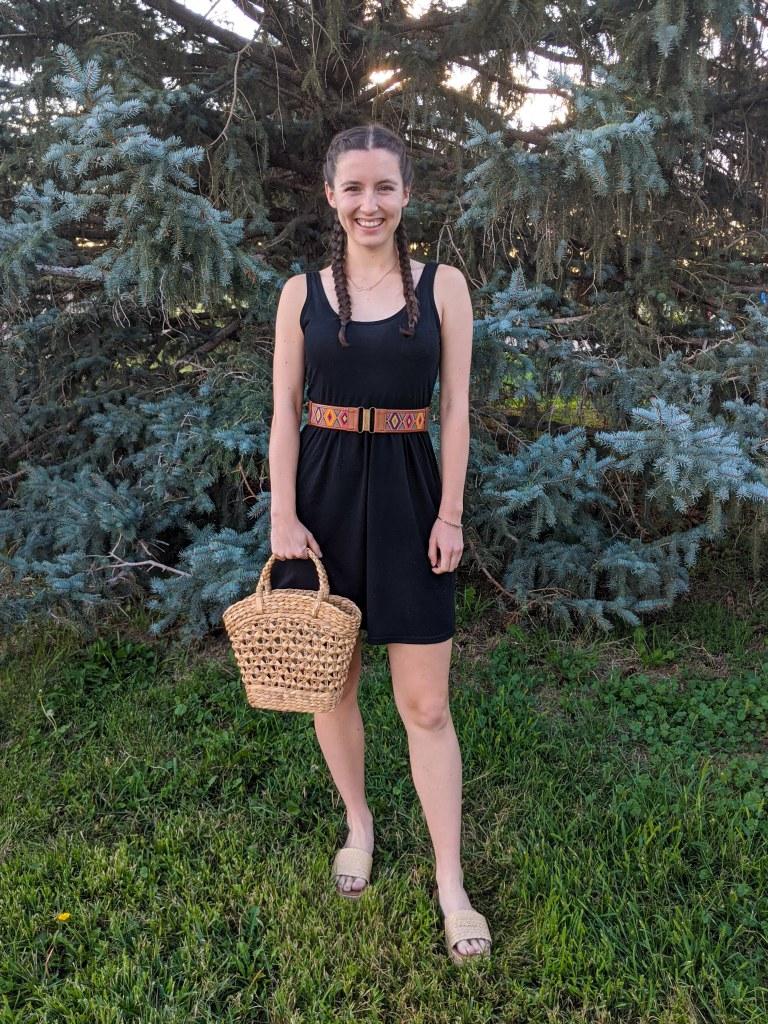 wicker-purse-raffia-sandals-target-black-dress