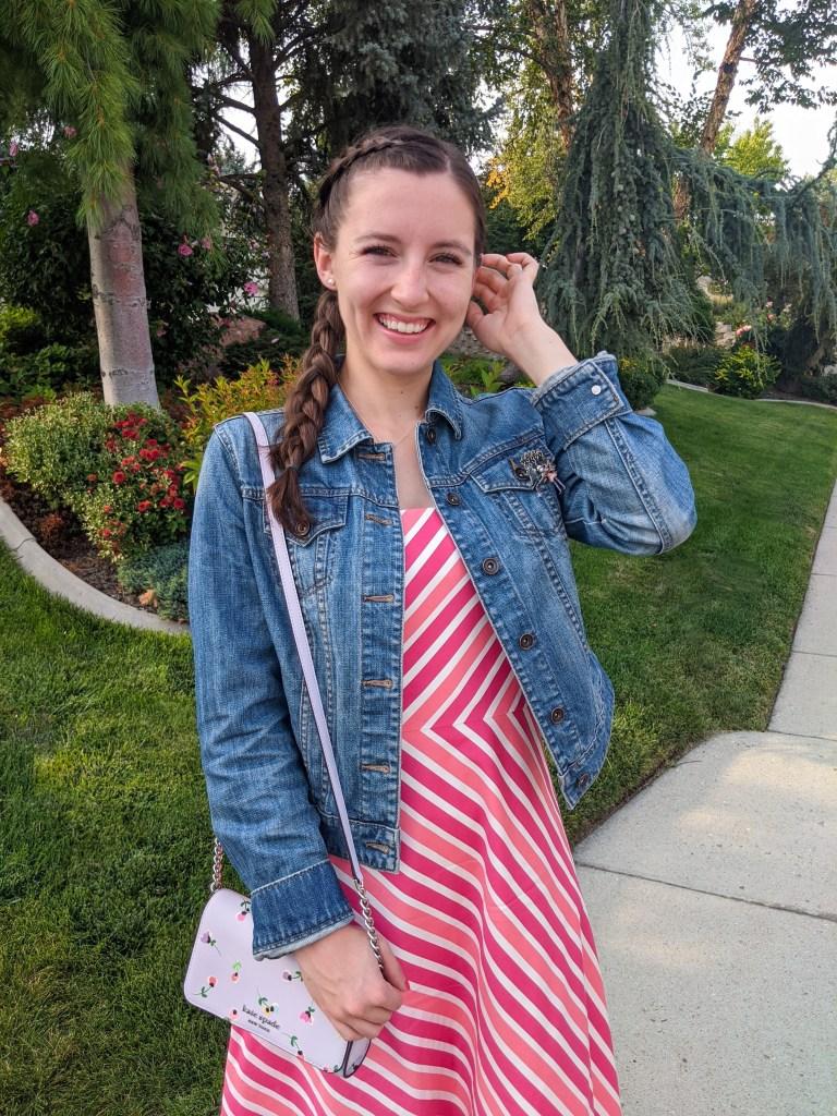 ann-taylor-thrifted-dress-kate-spade-floral-purse