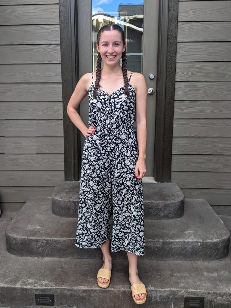 floral-jumpsuit-summer-fashion-francescas-raffia-slides