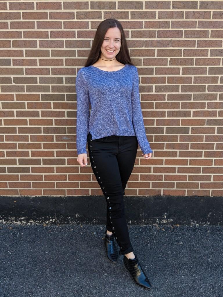 purple-sweater-hand-me-down-black-laceup-pants-black-booties